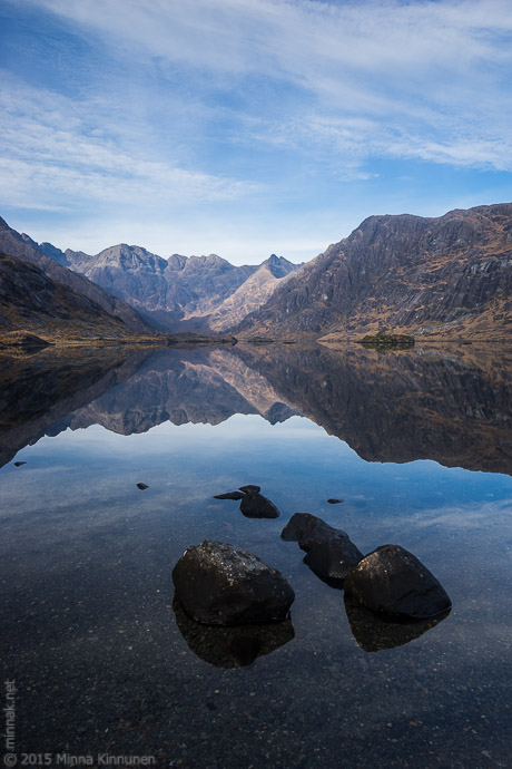 Loch Coruisk with beautiful mountains