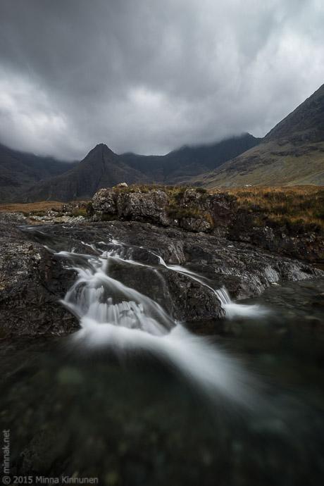 Waterfall upstream at Fairy Pools