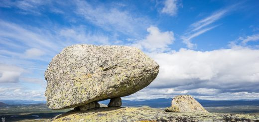 Levitating rock! A rock with feet! Mother Nature I bow to you!